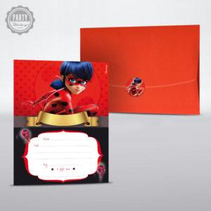 ladybug party προσκληση