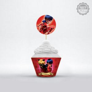 Ladybug θήκη για cupcakes