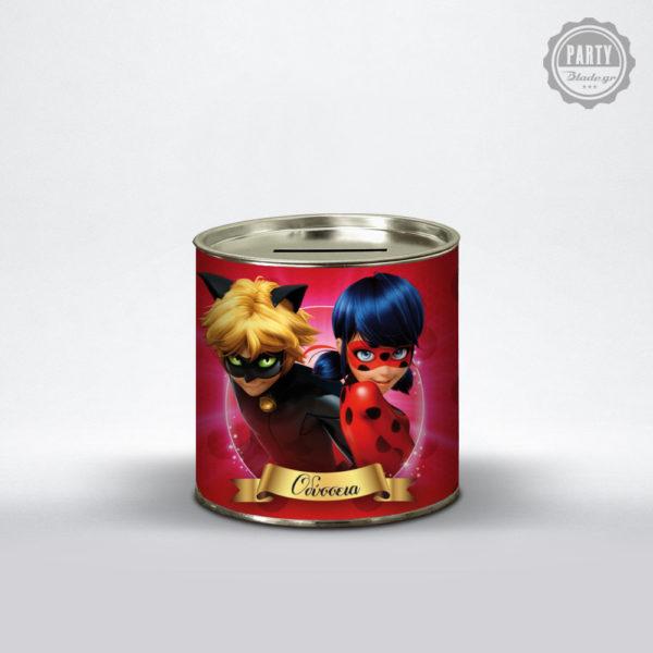 κουμπαράς με θέμα ladybug & cat noir