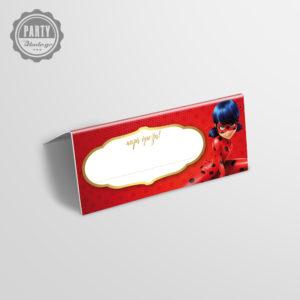 Ladybug ετικέτα μπουφέ για παιδικό πάρτυ, ετικέτα πάρτι Ladybug